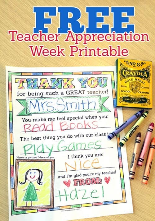 teacher appreciation thank you note you can color
