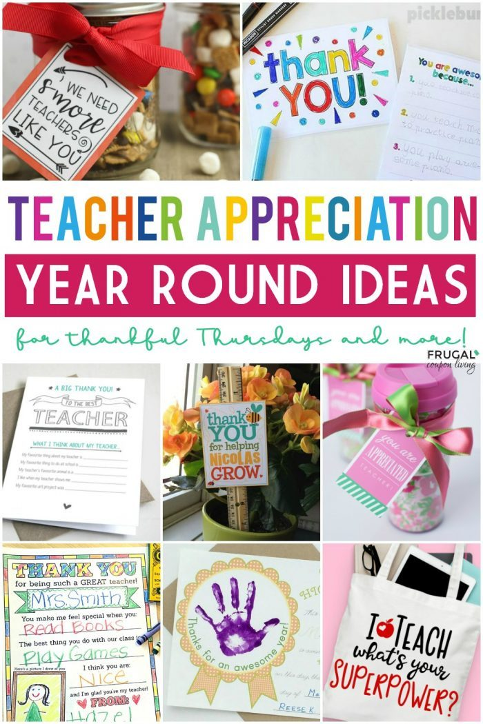 Thankful Thursday Ideas and Teacher Appreciation Gift Ideas