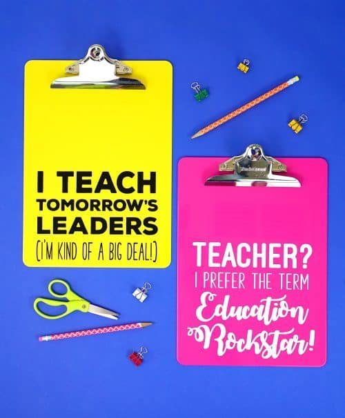 teacher appreciation free svg file clipboards