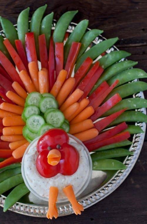 Thanksgiving Turkey Veggie Tray