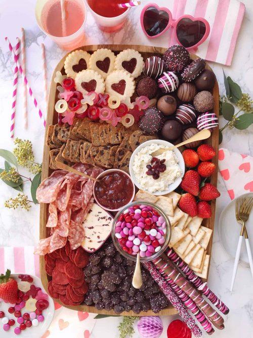 Valentine's Day Dessert Snack Board