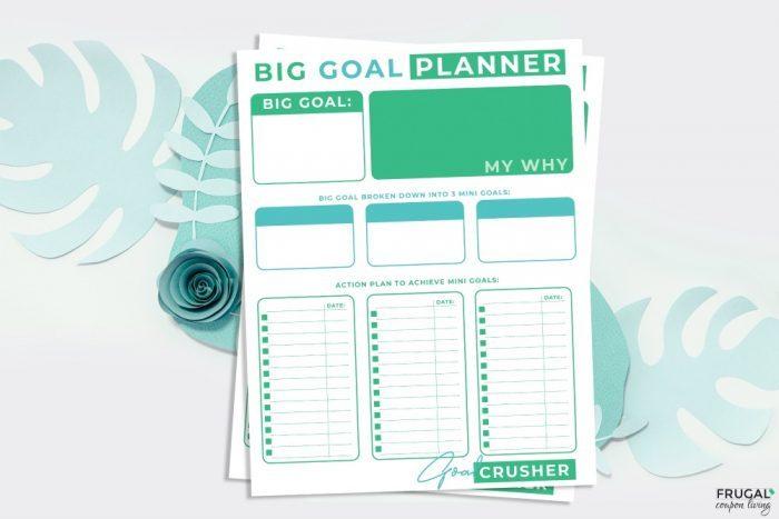 Big Goal Planner Organizational Printable