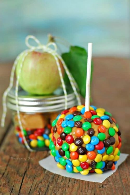 Dessert in a Jar Caramel Apple Halloween Gift