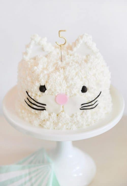 purr-fect cat themed birthday party cake ideas