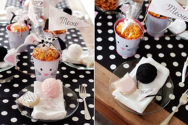 Cat Party Decor Ideas for a Girls Birthday Party