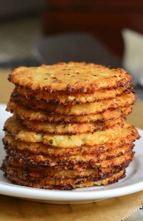 Cauliflower Parmesan Crisps Healthy Recipe