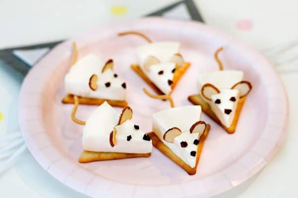 Cheese Mice | Cat Birthday Party Recipe and Food