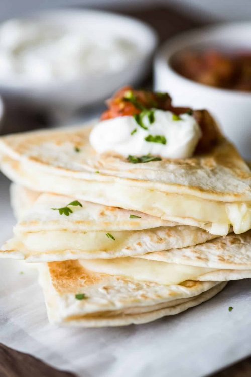 Simple Cheese Quesadillas & Quick Lunch Ideas for Kids