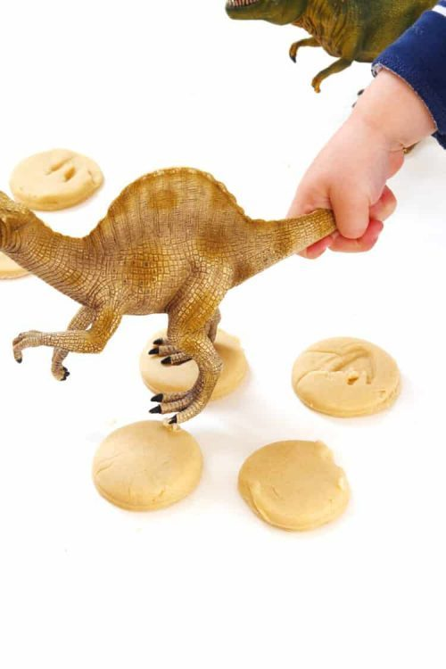 Dinosaur Foot Print Cookies Dessert with Dinosaur Party Ideas