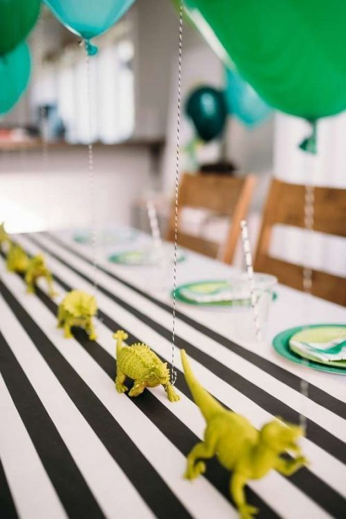 Dinosaur Party Tablescape and Centerpiece