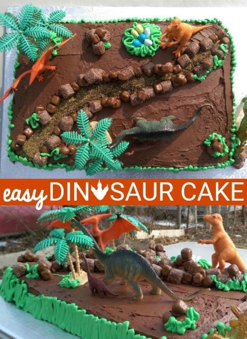 Easy Dinosaur Cake