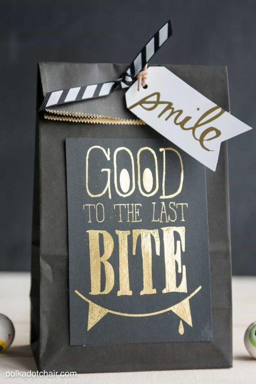 Good to the Last Bite Halloween Gift Tag