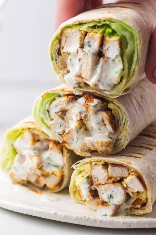 Grilled Chicken Wraps   Easy Lunch Ideas for Kids