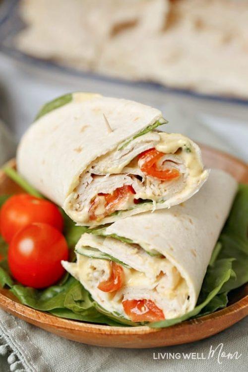 Healthy Spinach Turkey Wrap | Healthy Lunch Ideas