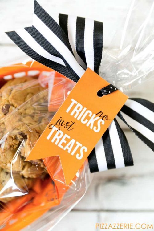 No Tricks, Just Treats Gift Tag for Halloween
