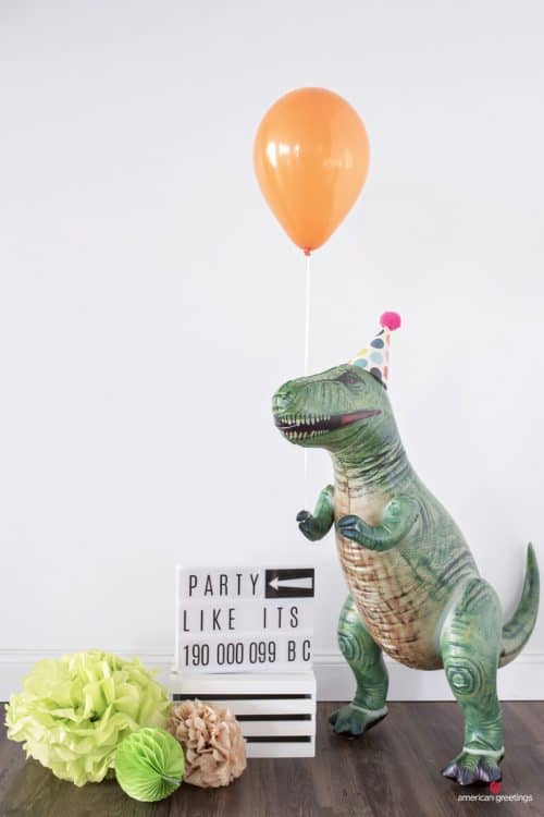 Inflatable Dinosaur Party Decor and Party Ideas
