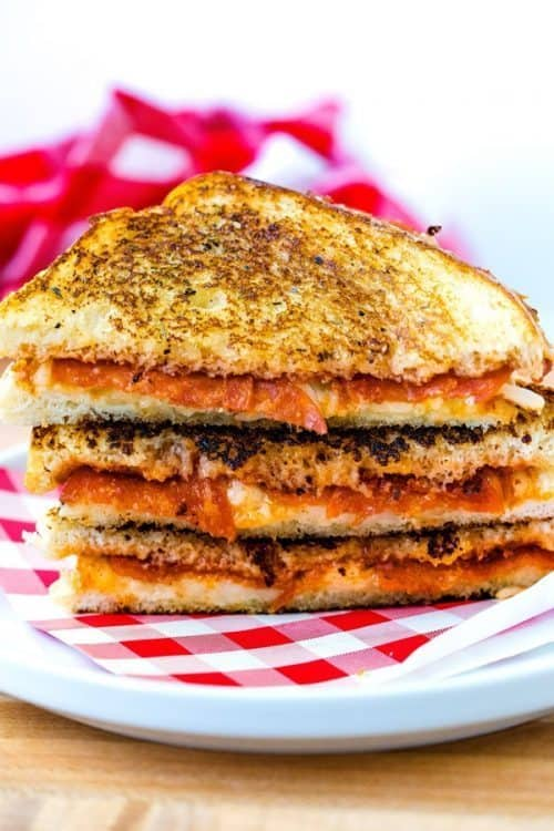 Grilled Cheese Pizza Recipe