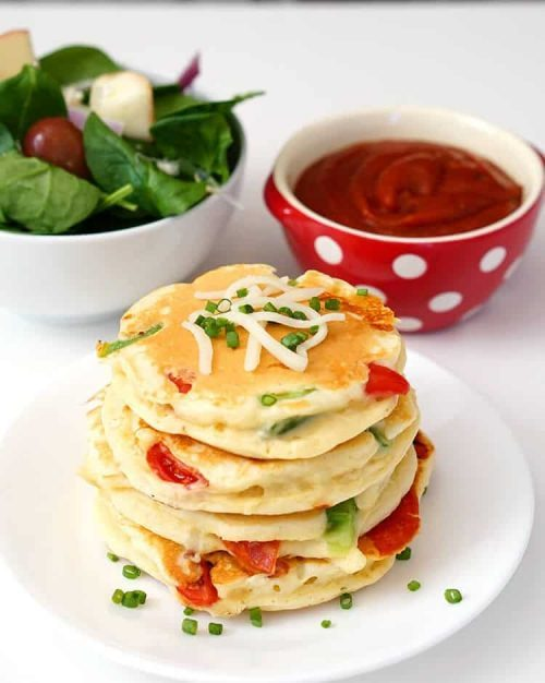 Easy Pizza Pancakes for Kids | Simple Lunch Ideas