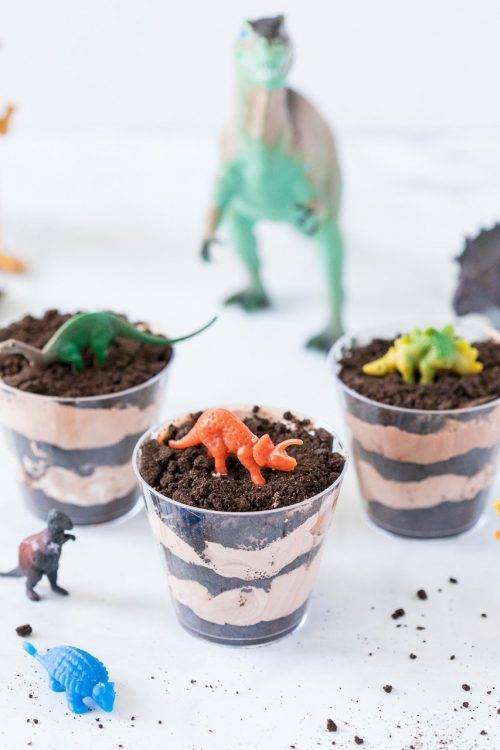 dinosaur dirt cups pudding dessert