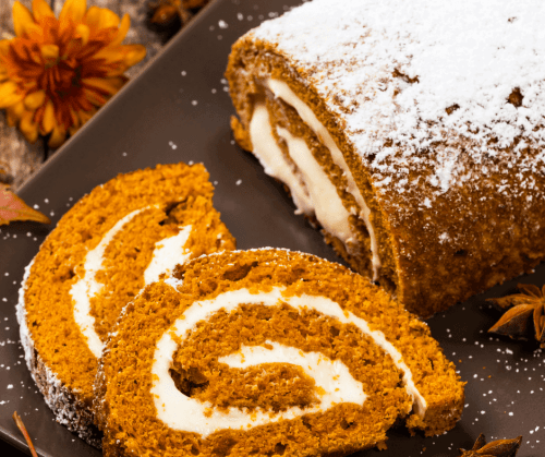 Pumpkin Cake Roll | Fall Dessert Recipe Idea