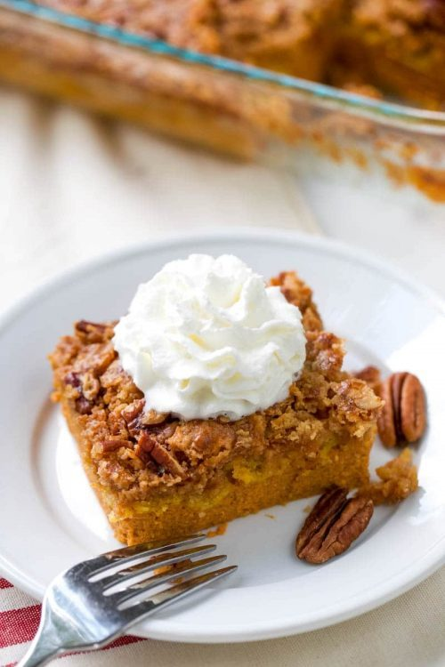 Pumpkin Dump Cake Fall Dessert Recipe