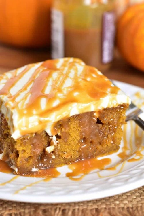 Salted Caramel Pumpkin Cake for Fall