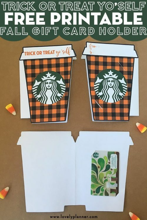 Starbucks Gift Card Halloween Printable