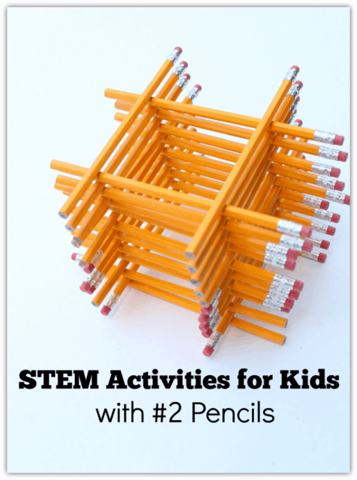 Stem Activities for Kids - Pencil Stack & More