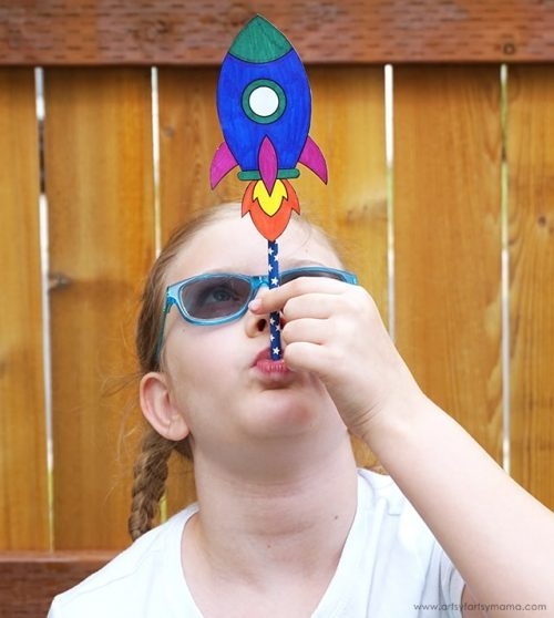 DIY Straw Rockets & Stem Activities for Kids