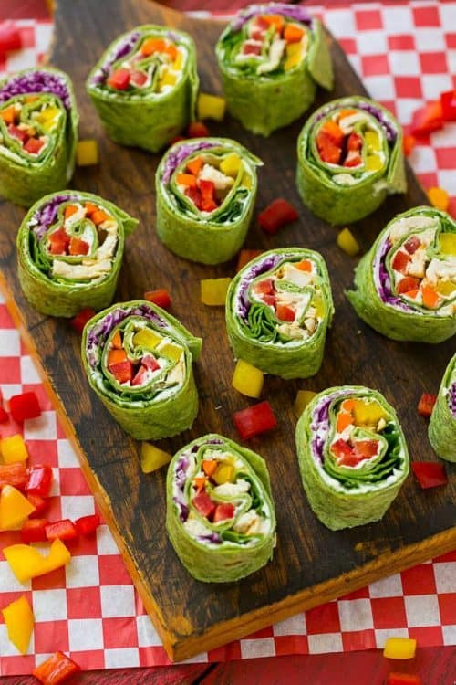 Veggie Pinwheels   Back to School Kids Lunch Ideas