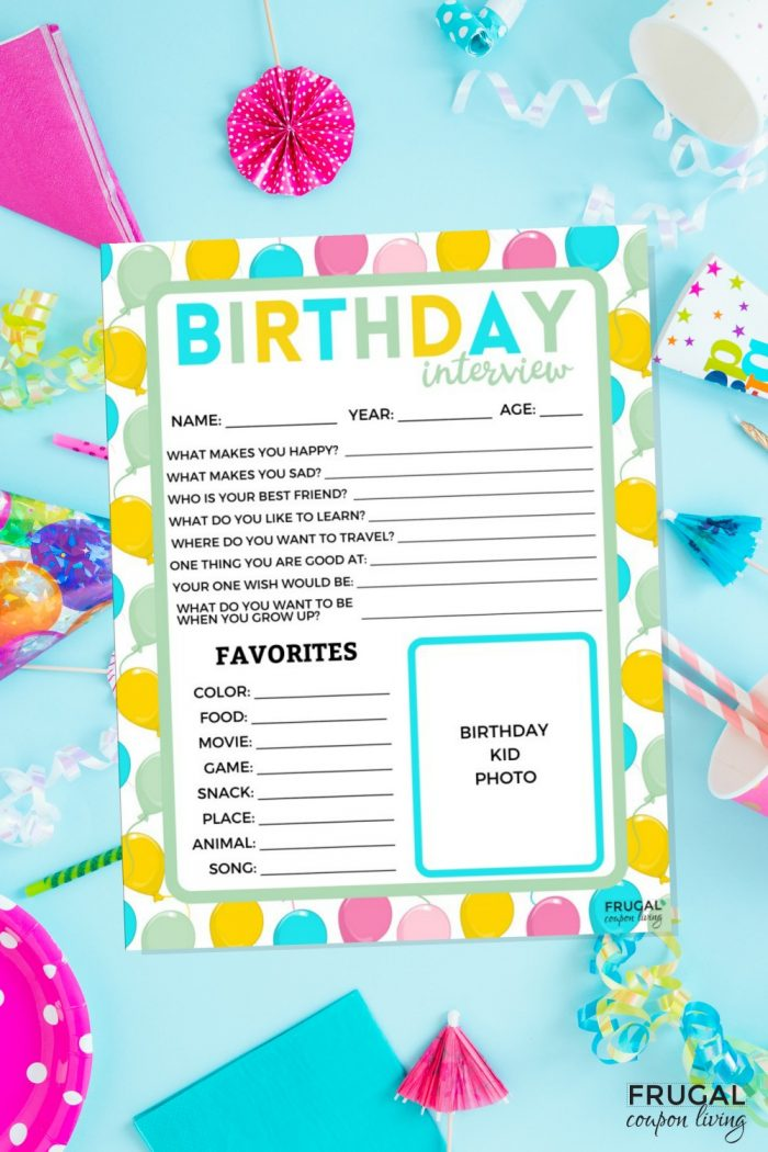 Birthday Interview Questions PDF Printable