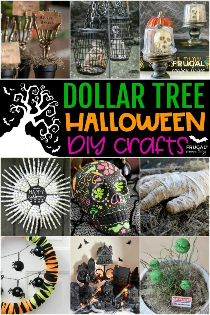 Halloween Dollar Store Decor and Dollar Tree Crafts