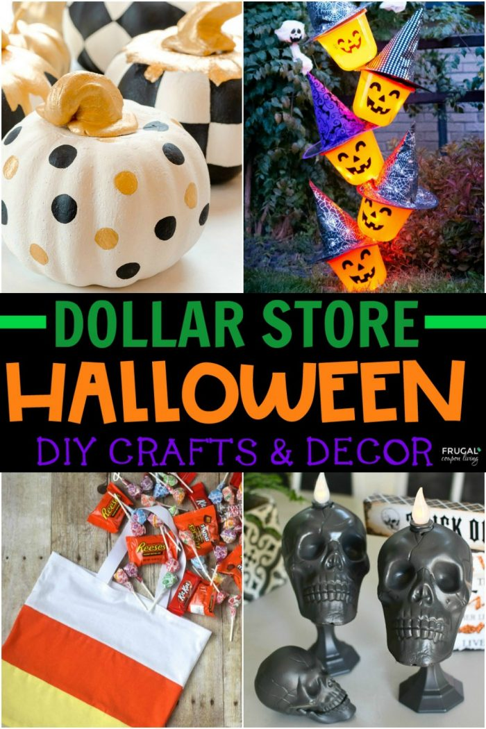 Dollar Store Halloween Crafts and Decor