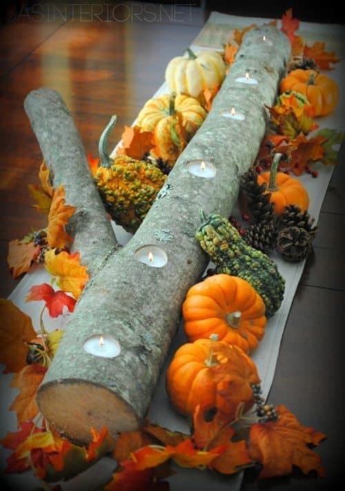 DIY Thanksgiving Centerpiece Ideas - DIY Candle Log