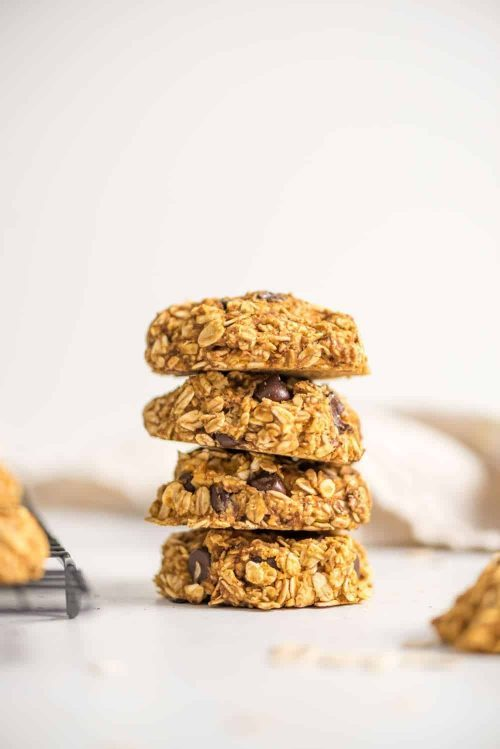 Healthy Pumpkin Oat Cookies with Pumpkin Puree