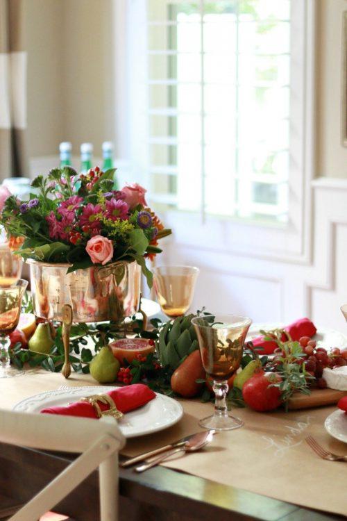 Edible Thanksgiving Table Runner & Centerpiece