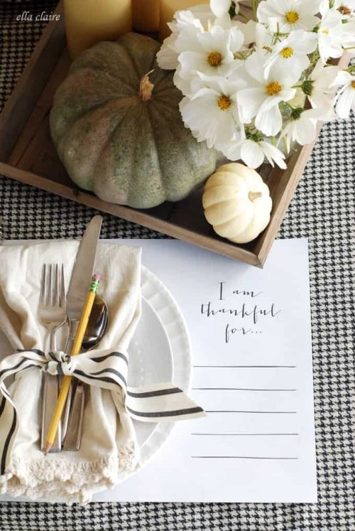 I'm Thankful for Placemate & Thanksgiving Table Setting Ideas