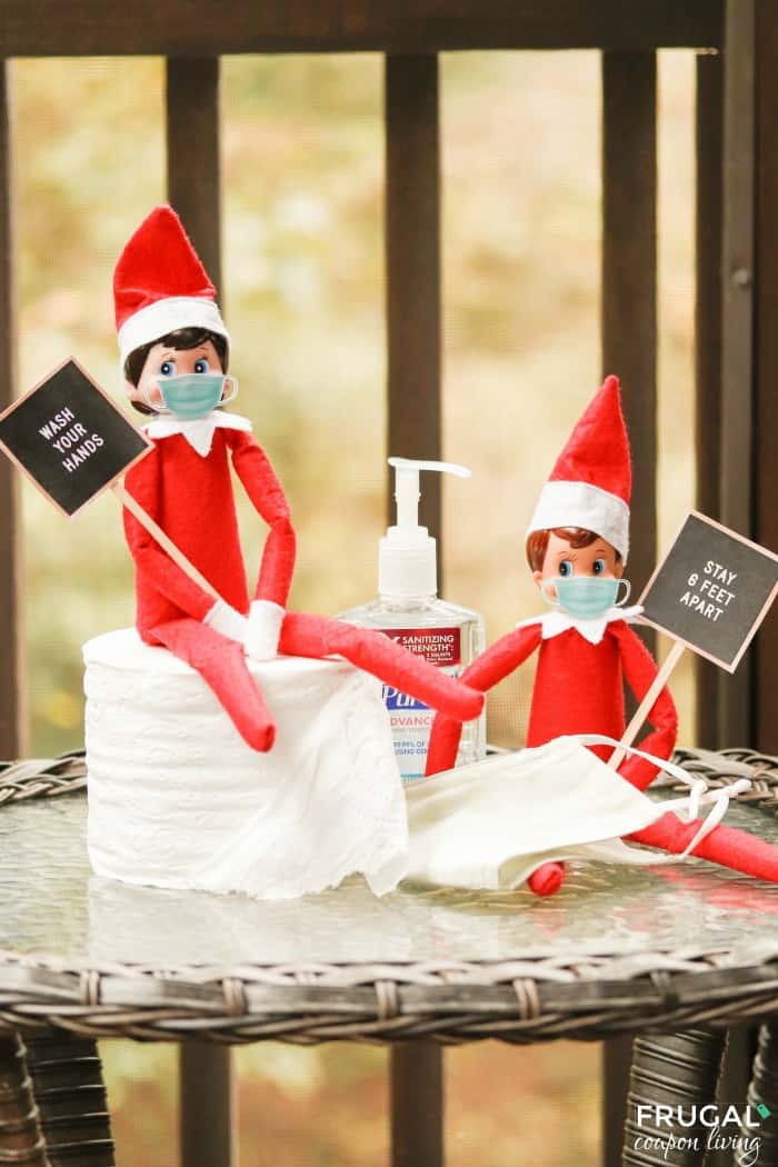 Quarantine Elf on the Shelf Ideas | Free Pandemic Elf Printables including Face Mask