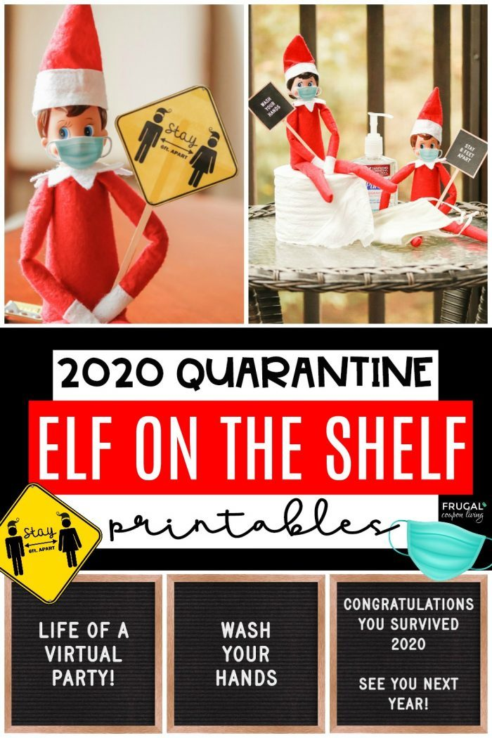 Quarantine Elf on the Shelf Ideas | Face Masks Printable & Pandemic Quotes