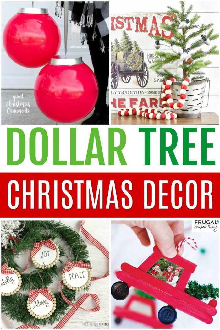 Dollar Store Christmas Decorations With Dollar Tree Decor