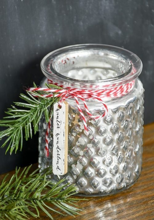 DIY Dollar Tree Christmas Candle Craft
