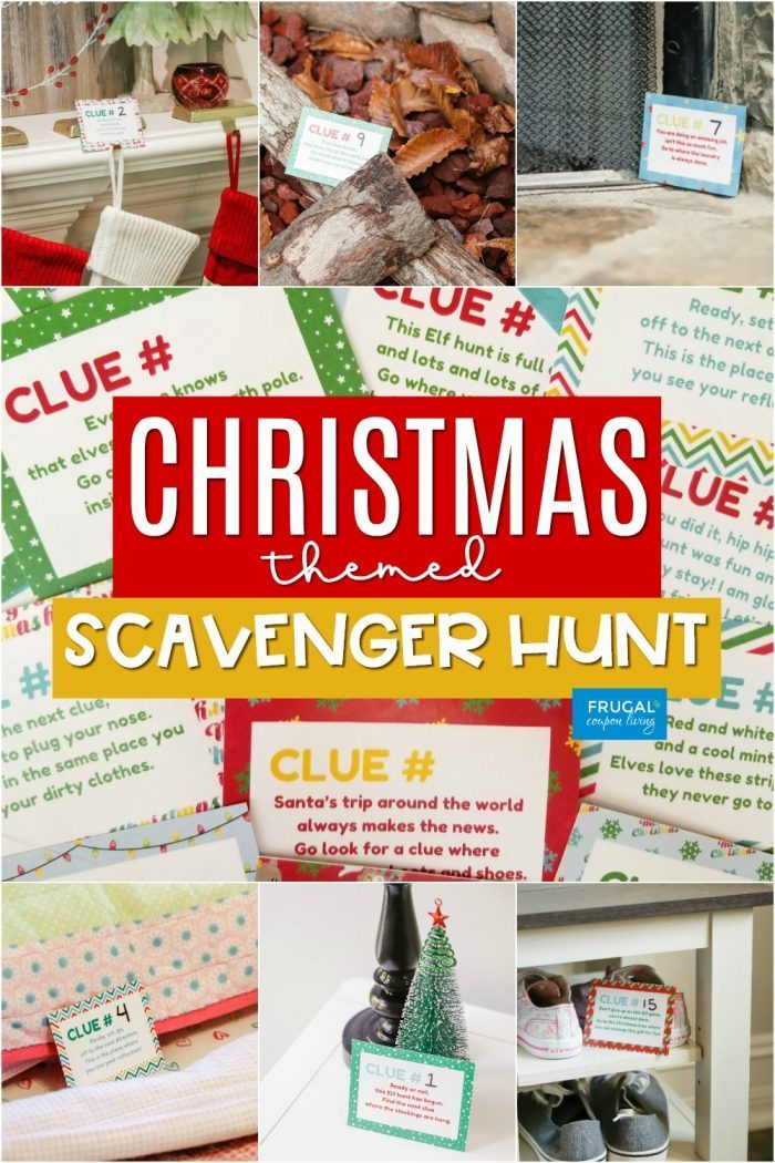 Elf on the Shelf Christmas Scavenger Hunt Game | Riddles & Rhyming Clues Cards