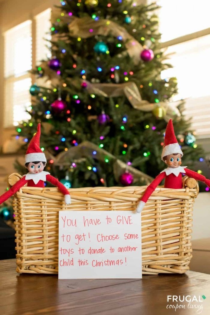 Random Acts of Kindness Elf on the Shelf Donation Letter for Toys with Collection Basket