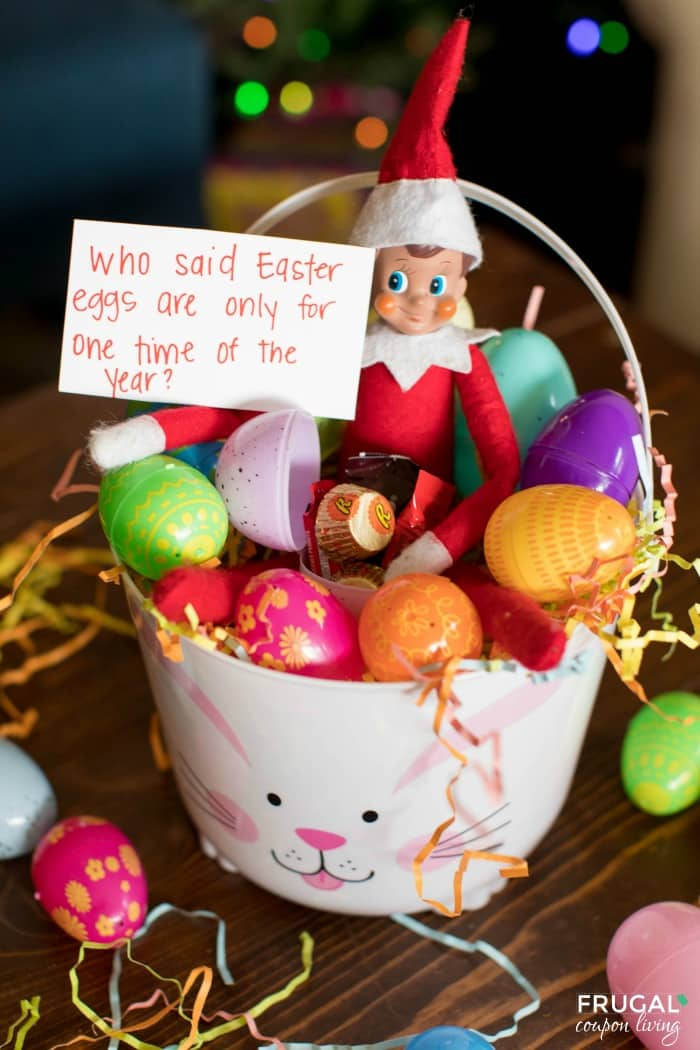 Elf on the Shelf Easter Egg Idea + Bunny Costume & Printables