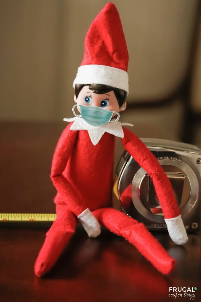 Printable Elf on the Shelf Face Mask | Elf on the Shelf Quarantine Ideas for 2020