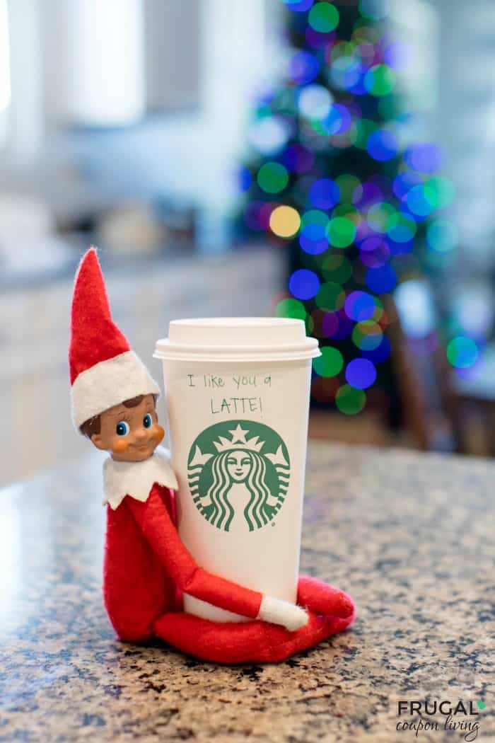 Starbucks Elf on the Shelf I Like You a Latte Idea