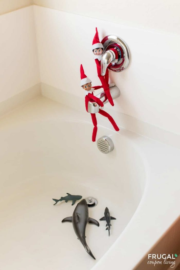Elf on the Shelf Shark - Danger Below