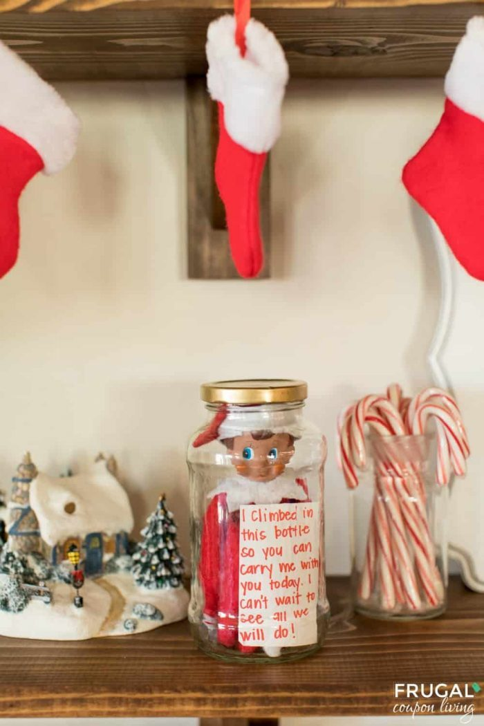 Elf on the Shelf in a Jar - How to Travel with Elf for Vacation or a Day Trip