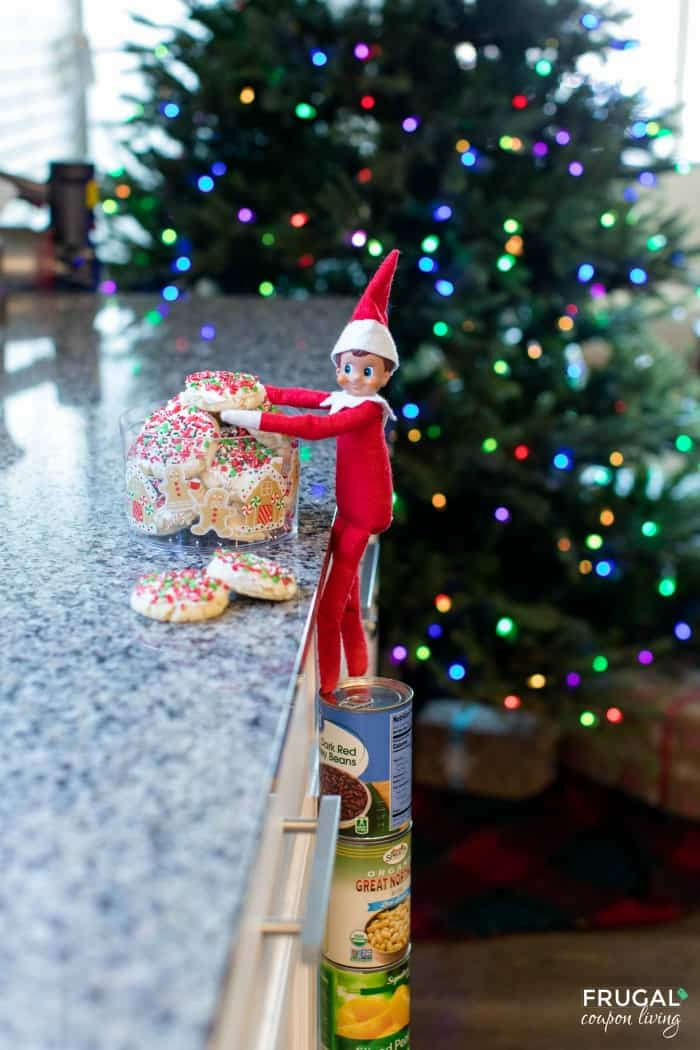 Elf on the Shelf Standing on Cans - How to Make Elf Climb