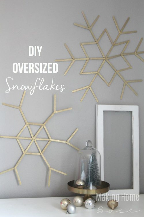 Oversized Snowflakes from Craft Sticks